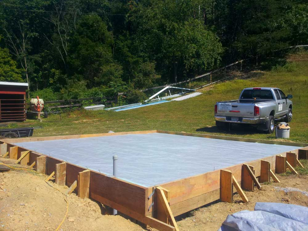 Concrete flatwork and foundations va quality concrete for Monolithic pour foundation